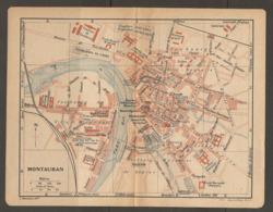 CARTE PLAN 1921 - MONTAUBAN CASERNES Du TRAIN Des EQUIPAGES De CAVALERIE D'INFANTERIE VELODROME - Topographical Maps