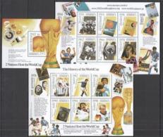A035 DOMINICA SPORT FOOTBALL THE HISTORY OF THE WORLD CUP !!! 2KB+1BL MNH - Coppa Del Mondo