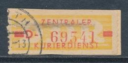 DDR Dienstmarken B 18 I Kennbuchstabe D Gestempelt Geprüft Weigelt Mi. 100,- - Dienstpost