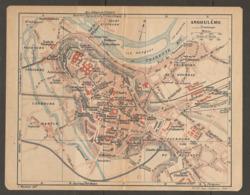 CARTE PLAN 1920 - ANGOULEME GARE D'ETAT MACHINES HYDRAULIQUES ECOLE DE THEOLOGIE GAZ ELECTRICITE - Topographical Maps
