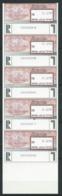 ISRAËL 1991 . Timbres D'Affranchissement N°4 Pour Envoi Recommandé .  5  Valeurs . Neufs ** (MNH) Autoadhésifs . - Vignettes D'affranchissement (Frama)