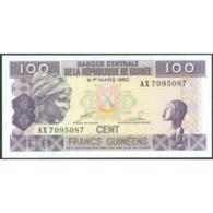 TWN - GUINEA 30a2 - 100 Francs 1985 Prefix AX - Without Serifs UNC - Guinea