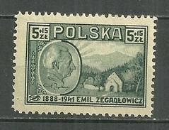 POLAND MNH ** 480 Emile Zegadlowicz écrivain Litérature Maison Natale Portrait - 1944-.... République