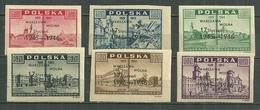 POLAND MNH ** 476 A-F Anniversaire De La Libération De Varsovie, Surcharge Varsovie Libre 17 Janvier 1945-46 - 1944-.... République