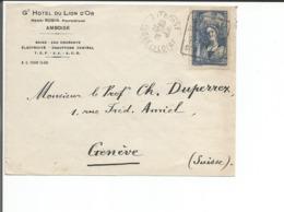 France 37, Henri Robin, Hôtel Du Lion D'Or Amboise - Genève Suisse (25.3.39) - France