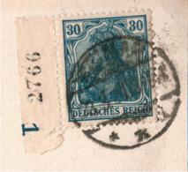 ! Germania Zählnummer Bogenrand Auf Ansichtskarte Aus Weimar - Allemagne