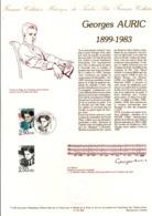 DOCUMENT FDC 1992 GEORGES AURIC - Documentos Del Correo