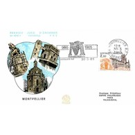 FDC N° 1418A - Montpellier (Hérault) - 30/3/1985 + Flamme - FDC