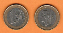 NETHERLANDS  1 EURO 2001 (KM # 240) #5470 - [ 3] 1815-… : Koninkrijk Der Nederlanden