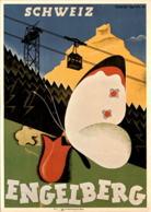 Engelberg - Schweiz - Plakat Für Verkehrsverein Engelberg, 1928 (1039) - OW Obwalden