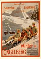 Elektrische Bahn Stansstad-Engelberg - Winter In Engelberg - Plakat 1907 (1040) - OW Obwalden