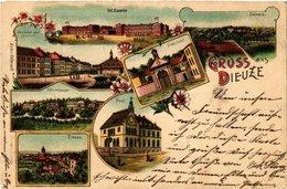 CPA AK DIEUZE - DUSS I. L. - Post - Kaserne - Scenes (388146) - Dieuze