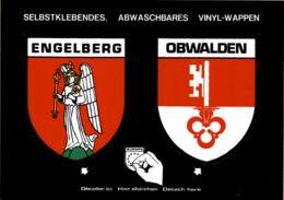 Engelberg - Obwalden - 2 Selbstklebende, Abwaschbare Vinyl-Wappen - OW Obwalden