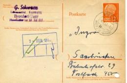 Saarland 1957 Stempel BROTDORF über MERZIG (SAAR) Auf P 43 -> Erhaltung (11-167) - 1957-59 Federazione
