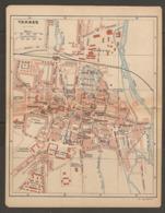 CARTE PLAN 1921 - TARBES QUARTIER LARREY CAVALERIE Ets GACHE ARSENAL CASERNE REFFYE QUARTIER SOULT ARTILLERIE - Topographical Maps