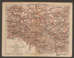 CARTE PLAN 1921 - St GIRONS AULUS AX Les THERMES - FOIX MIREPOIX Le MAS D'AZIL AUDINAC BELESTA Ste LIZIE ANDORRE - Topographical Maps