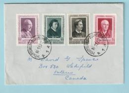 Speciale Uitgiften 892-895 Op Brief Van MONTIGNIES Naar CANADA - Belgique