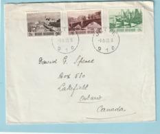 Speciale Uitgiften 918-920 Op Brief Van JETTE Naar CANADA - Belgium