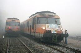 Bellenaves (03) 11 Décembre 2004 Dernier RTG Lyon/Bordeaux - Dernier Croisement à Bellenaves - Gares - Avec Trains