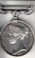 Thematiques Medailles Insigne Décoration Criméa Victoria Régina 1854 B Wyon Sc Argent Sylver - Medaglie