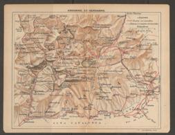 CARTE PLAN 1921 - ANDORRE Et CERDAGNE - ESPAGNE SPAIN - CAIXANS ANSERALI BOLVIR ARCABELL - Topographical Maps