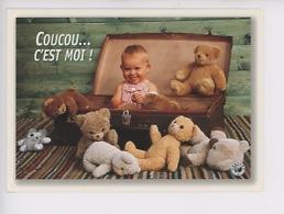 Coucou... C'est Moi ! (ours Peluche Nounours Valise Male Enfant Bébé) Cp Vierge - Cartes Humoristiques