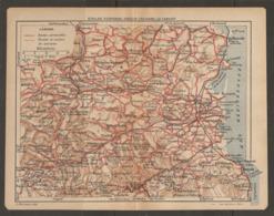 CARTE PLAN 1921 - QUILLAN PERPIGNAN AMELIE Les BAINS Le CANIGOU - QUILLAN COUIZA PRADES Le BOULOU - Topographical Maps