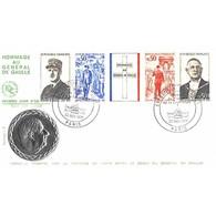 FDC - Hommage Au Général De Gaulle - Médaille Argent - Oblit Ill 22/11/1971 Paris - 1970-1979