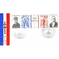 FDC Soie - Général De Gaulle - 1er Anniversaire De Sa Mort - Oblit Ill 9/11/1971 Paris - FDC