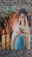 CPSM 3 D RELIEF NOTRE DAME DE LOURDES ED DINO 1973 - Virgen Mary & Madonnas
