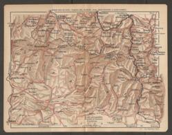 CARTE PLAN 1921 - St JEAN PIED De PORT PAMPELUNE OLORON JACA EAUX CHAUDES Et EAUX BONNES - ESPAGNE NAVARRA ZARAGOZA ARAG - Topographical Maps