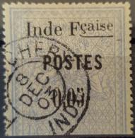 ÉTABLISSEMENTS DE L'INDE 1903 - Canceled - YT 24 - 0,05f - India (1892-1954)
