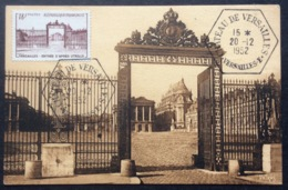 CM363 Carte Maximum 939 Versailles Utrillo Château Versailles Hexagonal 20/12/1952 - Maximumkarten