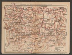 CARTE PLAN 1921 - CAUTERETS LUZ St SAUVEUR GAVARNIE BAREGES LUCHON - BOLTANA VENASQUE LOURDES MAULEON - Topographical Maps