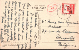 ! 1940 Ansichtskarte Aus Jerusalem, Palestine, Censor Mark, Passed By Censor, Censure, Zensurstempel Palestina - Palestine