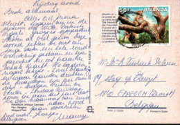 ! Ansichtskarte Aus  Rwanda, Parc Akagera, Wildlife, Tiere - 1980-89: Oblitérés