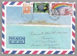 E57 - NOUVELLE CALEDONIE - Superbe Enveloppe Voyagé De 1986 - Beaux Timbres - - Briefe U. Dokumente