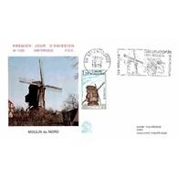 FDC N° 1123 - Moulin De Steenvoorde - 12/5/1979 + Flamme - FDC