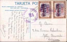 ! Ansichtskarte Mit Briefmarken Aus Honduras, Tegucigalpa Cancel, 1953 - Honduras