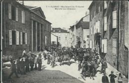Lozère : Florac, Boulevard Du Tribunal, Marché Aux Chevaux, RARE... - Florac
