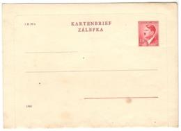 22601 - Entier  Carte  Lettre - Böhmen Und Mähren