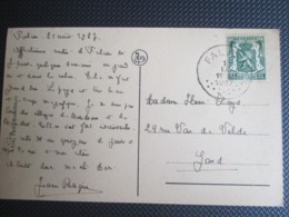 """425 - Op PK """"Abbaye De Maredret"""" Verstuurd Uit Falaen - 1935-1949 Klein Staatswapen"""