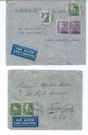 2 Enveloppe Avec Nr 433 5 Fr émission Poortman De 1936 - Anvers - Antwerpen Pour NEW-YORK - 1936-1951 Poortman