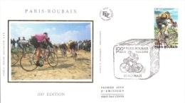 100e Paris-Roubaix  -  59 Roubaix  -  Enveloppe 1er Jour - FDC - Ciclismo