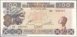 TWN - GUINEA 35b - 100 Francs 2012 Prefix BO UNC - Guinea