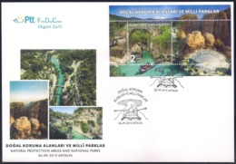 TURKEY [2019] Koprulu Canyon National Park; Ancient Ruins; Watersports - Official FDC - FDC