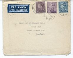 Enveloppe Avec Nr 430 - 431 Et 434 De ANVERS Antwerpen Vers New-york - 1936-1951 Poortman