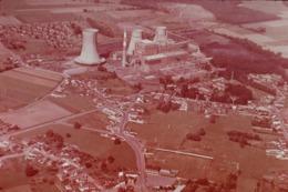 Photo Diapo Diapositive NORD Paysages & Industries Centrale Thermique à Hornaing Vers Valenciennes En 1975 VOIR ZOOM - Diapositives