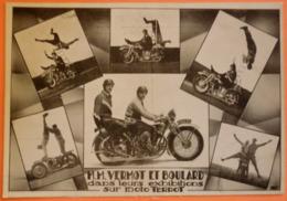 CARTE MOTO TERROT - EXHIBITIONS VERMOT ET BOULARD - 2 SCANS-10 - Motorbikes