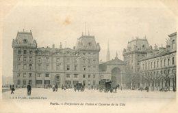 CPA - PARIS - PREFECTURE DE POLICE ET CASERNE DE LA CITE - Francia